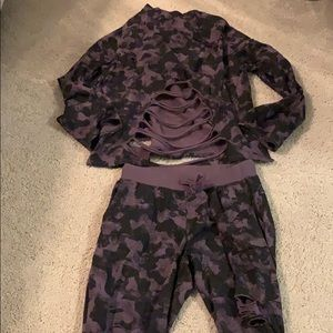 Fashion Nova Mono B Co-Ord camouflage set!Size Med